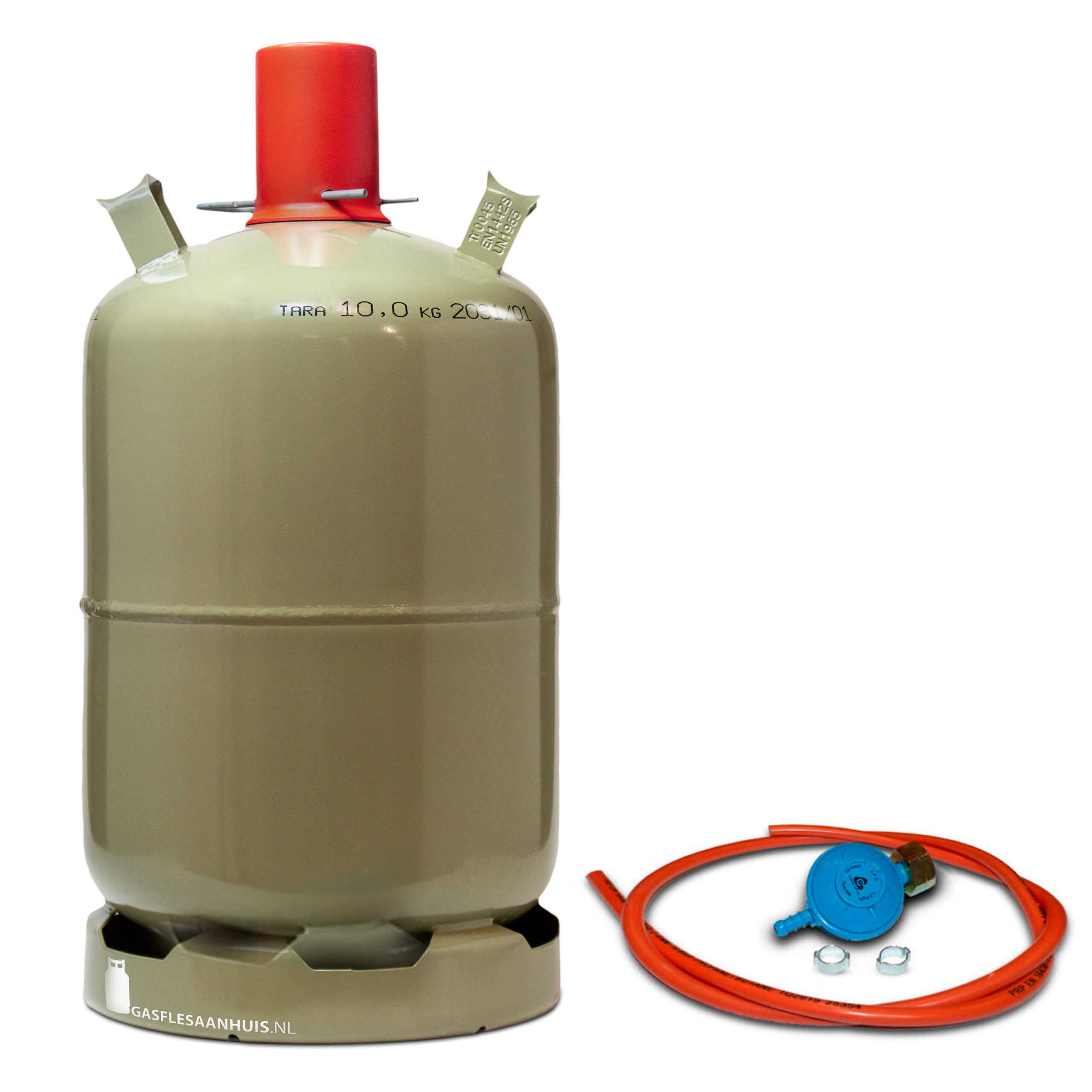 groene gasfles, gasfles kopen, gasdrukregelaar, gasfles 11kg, gasfles