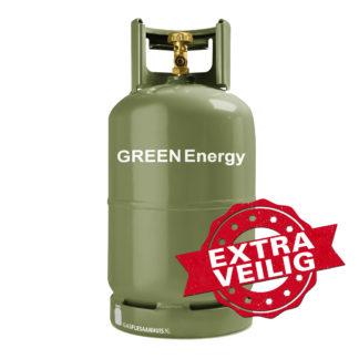 GREEN Energy, groene gasfles, 5kg gasfles, keurjaarvrij